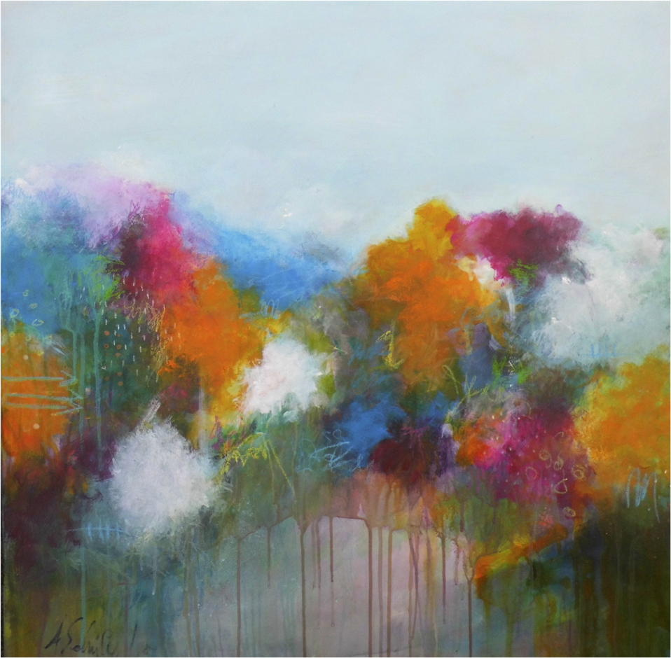 Bursting into life! 80 x 80 cm, sold
