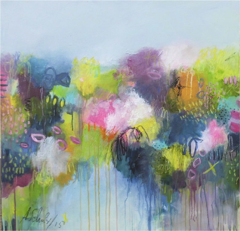 Bursting into life II 80 x 80 cm