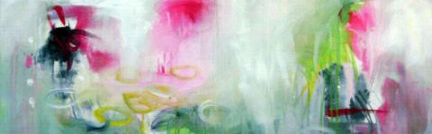 somwhere over the rainbow 2,  30 x  90 cm