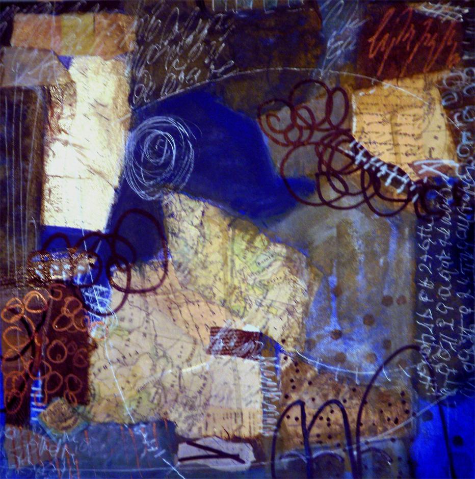 40 x 40 cm mixed media auf canvaspanel