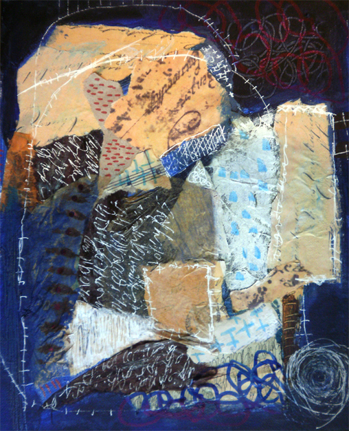 24 x 30  cm mixed media auf canvaspanel