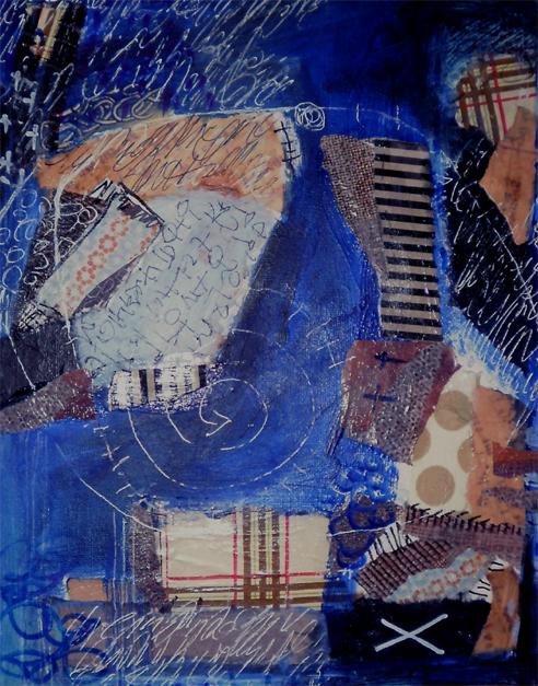 24 x 30  cm mixed media auf canvaspanel